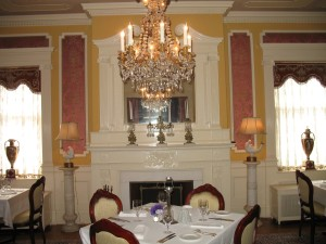The ladies parlor, where I ate dinner later.